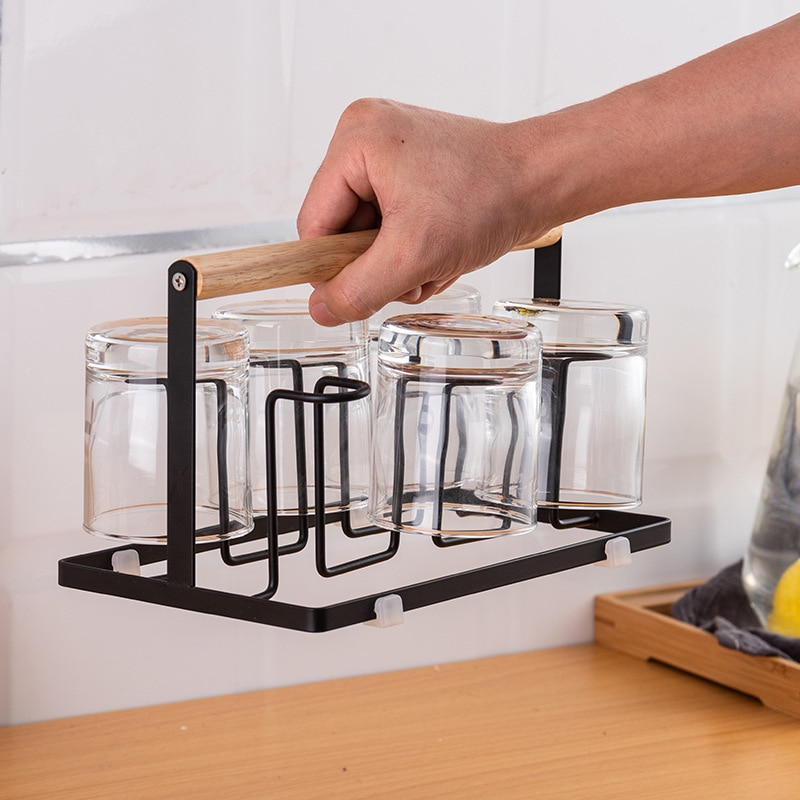 Portable Cup Drain Rack Water Draining Cup Holder Cup Rack Japanese Kitchen Organizer Storage Drying Rack Table Storage rack