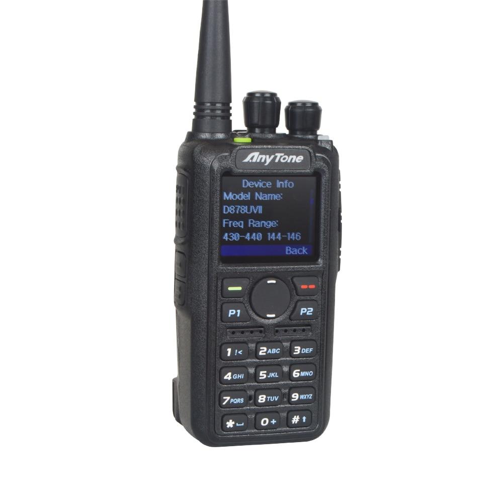 AT-D878UVII Plus Anytone Ham Walkie Talkie Bluetooth PTT GPS APRS Dual Band VHF/UHF Digitial DMR Analog Portable Two Way Radio