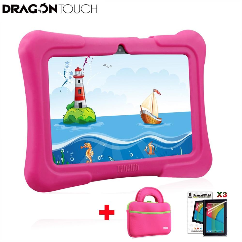 جهاز لوحي للأطفال Y88X Plus مقاس 7 بوصات يعمل بنظام Android 8.1 ومعالج رباعي النواة وذاكرة وصول عشوائي 16 جيجابايت وحقيبة واقية وشاشة