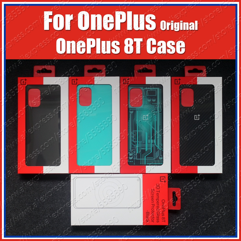 KB2001 Official Protection Covers For OnePlus 8T Case Real Original Sandstone Silicon Nylon Carbon B