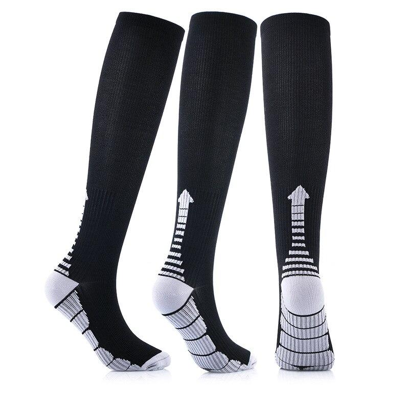 Quality New Compression Socks Arrow Pattern Thigh High Tube Socks Sports Socks Men's Socks Women Run