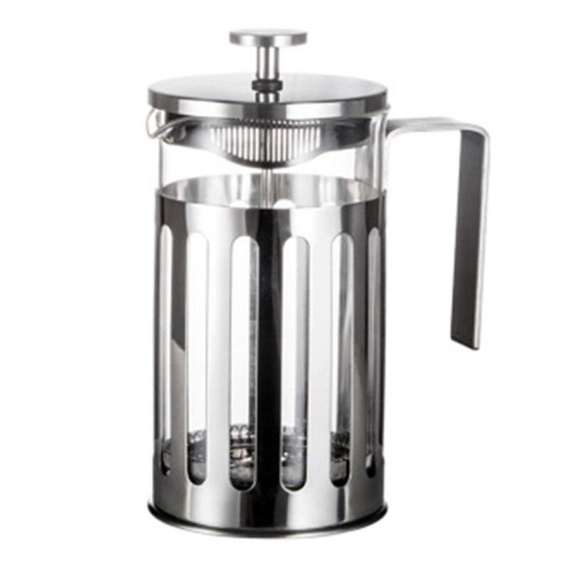 أداة صنع القهوة الفرنسية المصنوعة من الفولاذ المقاوم للصدأ, أداة عزل القهوة والشاي مع سلال التصفية