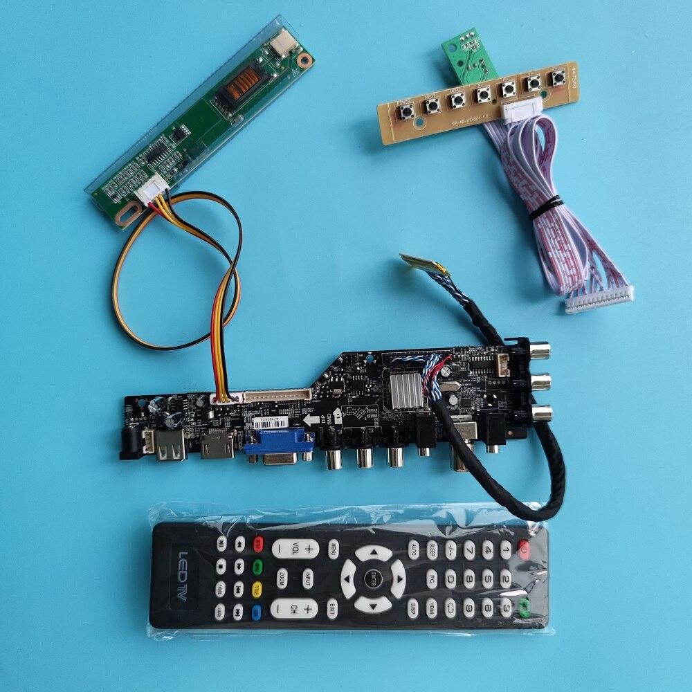 ل LTN154AT01 HDMI-متوافق LED USB VGA AV TV المراقب مجلس سائق لوحة رقمية DVB-T DVB-T2 1280x800 عرض AV عن بعد