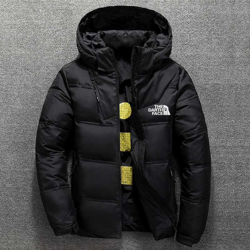 Men's Down Padded Jacket Hooded Windproof Solid  Warm Simple and Solid Color Design Daily Casual Parka Hot Sale
