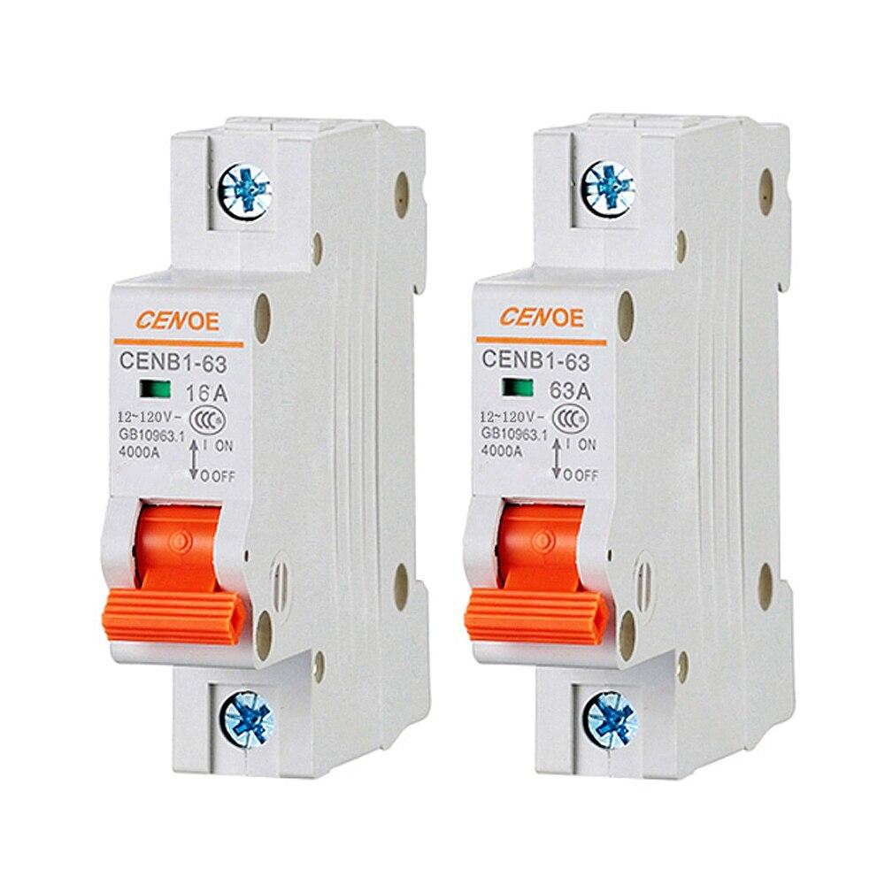 Calidad superior de la batería de coche disyuntor, disyuntor de DC con más ideal protección contra sobrecarga y cortocircuito 63A 50A 40A 120V