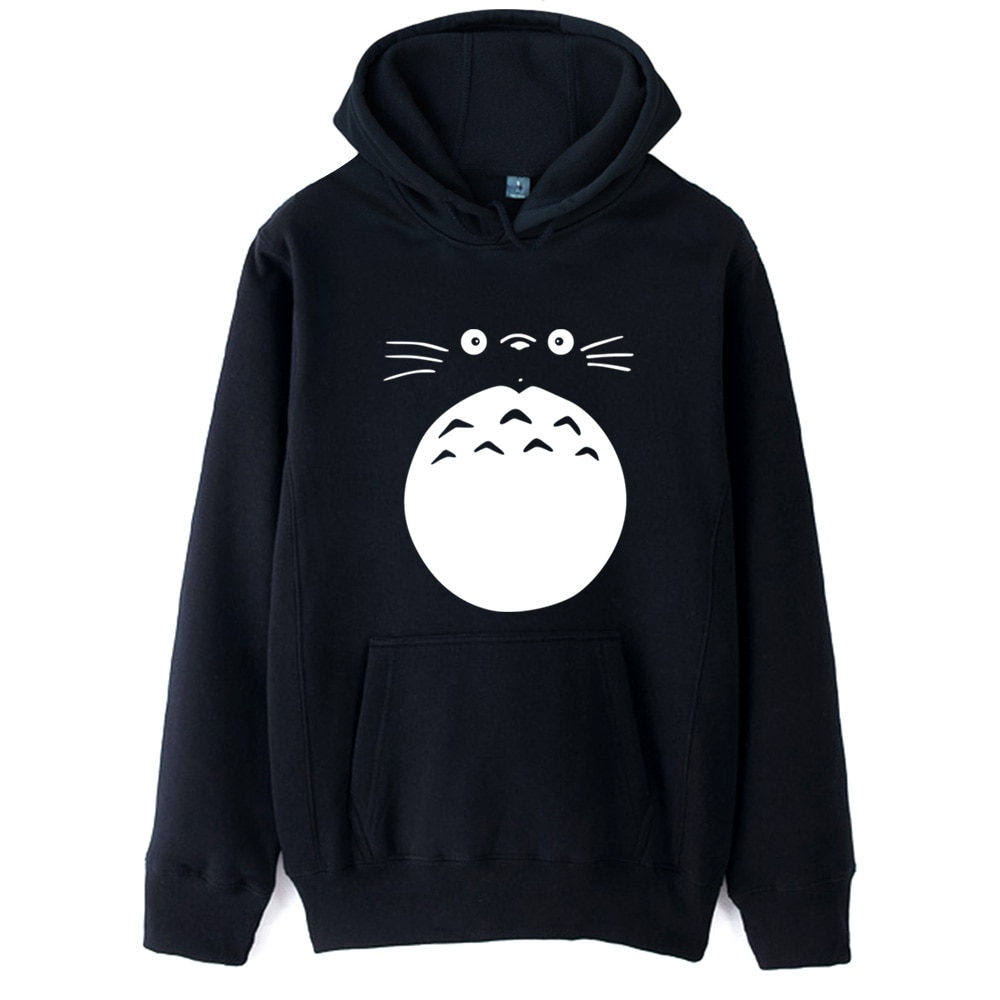 Mon voisin Totoro japon personnage de dessin animé visage ventre fille veste à capuche femme automne hiver polaire Couple vêtements ZIIART