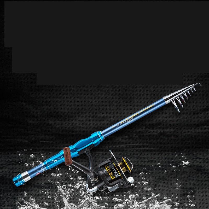 Telescopic Ultralight Fishing Rod Portable Float Rings Carbon Fiber Fishing Rod Summer Winter Feeder Vara Pesca Aquarium HX50FR enlarge