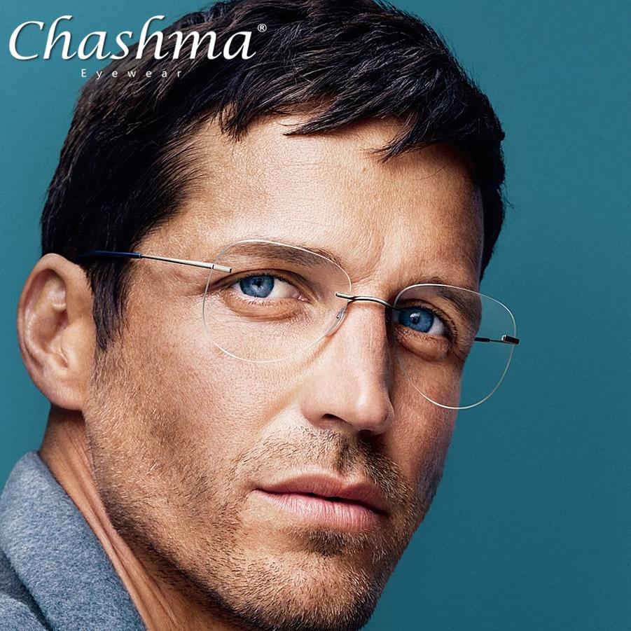 Titanium Transition Aviation Sunglasses Photochromic Reading Glasses Rimless Eyeglasses Men with Dio