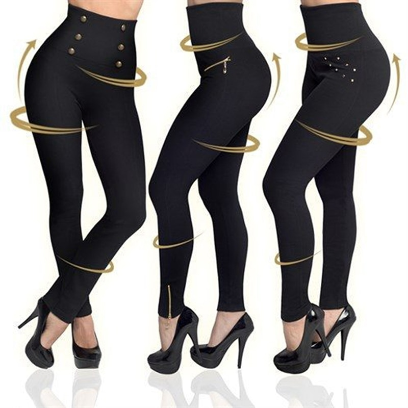 Bodycon Pencil Pants Women Autumn High Waist Super Elastic Slim Pants Ankle Length Skinny Zipper Leggings Femme Trousers