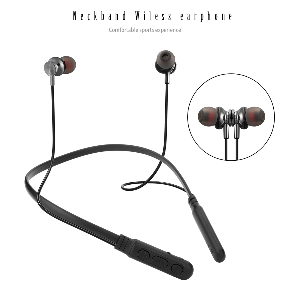 Wireless Sports Bluetooth Earphone Neckband Magnetic Bass Headsets Handfree Earbuds with Mic for Smartphones enlarge