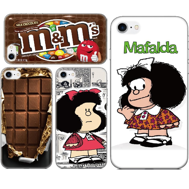Mafalda Chocolate cubierta para LG K51 Stylus 5 4 Stylo 6 K41s Aristo 5 Plus K31 de Rakuten Mini K11 K10 K9 K8 Nexus 5X V40 caso