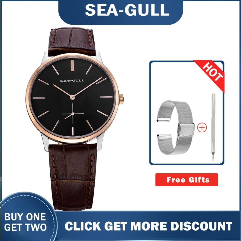 Seagull watches 519.612 Ultra Thin 8mm Hand Wind Men's Watches high quality top brand wrist watch for men