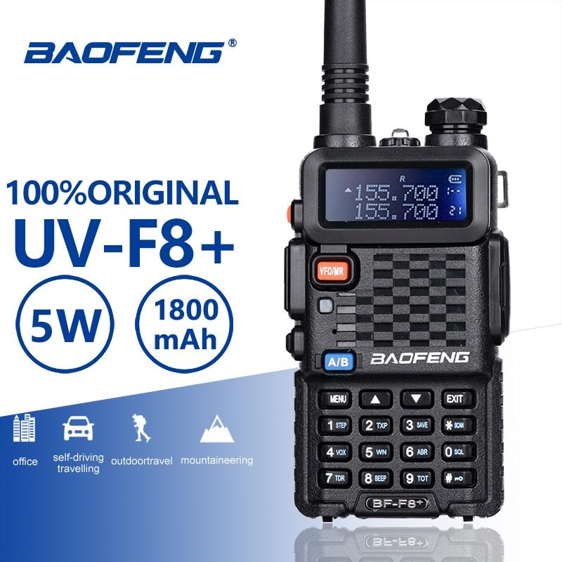 Baofeng BF-F8 + ترقية جديد اسلكية تخاطب الشرطة اتجاهين راديو Pofung F8 + 5W UHF VHF ثنائي الموجات في الهواء الطلق طويلة المدى هام الإرسال والاستقبال
