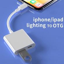 Adaptateur Lightning vers USB OTG pour iPhone iPad iOS 13 u-disk convertisseur souris clavier connecteur iPhone Lightning vers USB 3.0 adaptateur