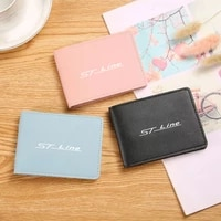driver license holder pu leather card bag for car driving documents package for ford focus mk2 st vignale st line