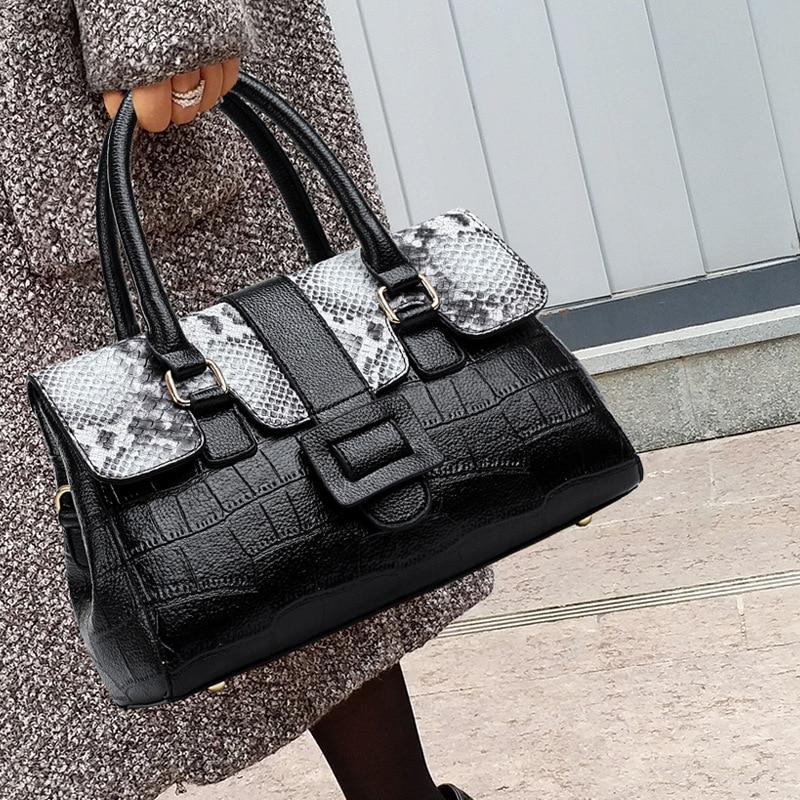 حقائب يد جلدية أصلية 100% ، حقيبة كتف عصرية ذات سعة كبيرة ، حقيبة محمولة ، Gg ، مجموعة جديدة 2021