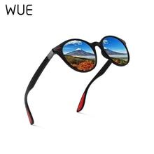 wue Fashion Men Polarized Sunglasses Women Round TR90 Frame Brand Designer Driving Sun Glasses Oculo