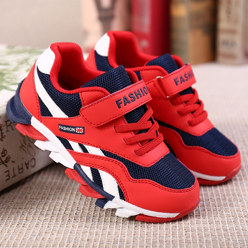 Children's Casual Shoes Blade Sole Mesh Boys Running Shoes Anti-slippery Kids Sneakers 2021 Girls Bo