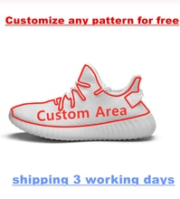 2020 Yeezys custom  fans men sport air Running shoes Women Ladies 350 V2 Sneakers