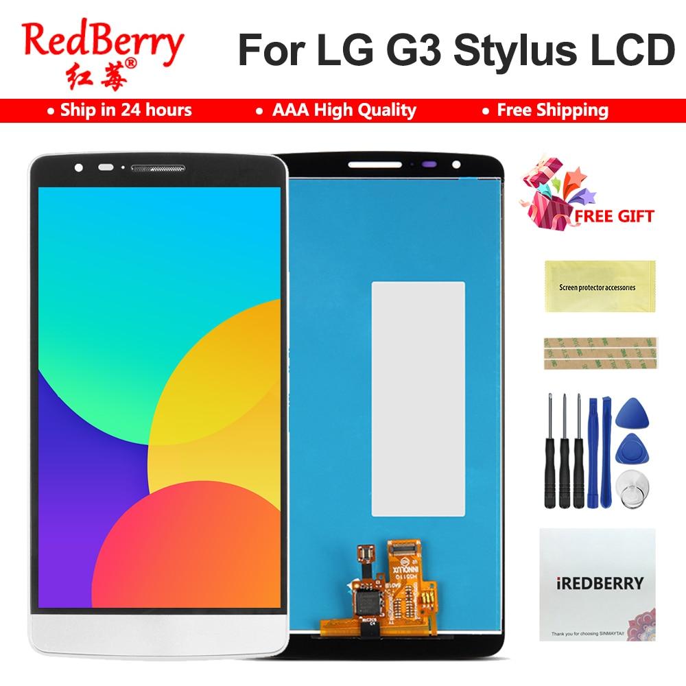 "100% probado 5,5 ""D690 LCD para LG G3 Stylus LCD Display D690 D690N D693n D693 MONTAJE DE digitalizador con pantalla táctil piezas de repuesto"
