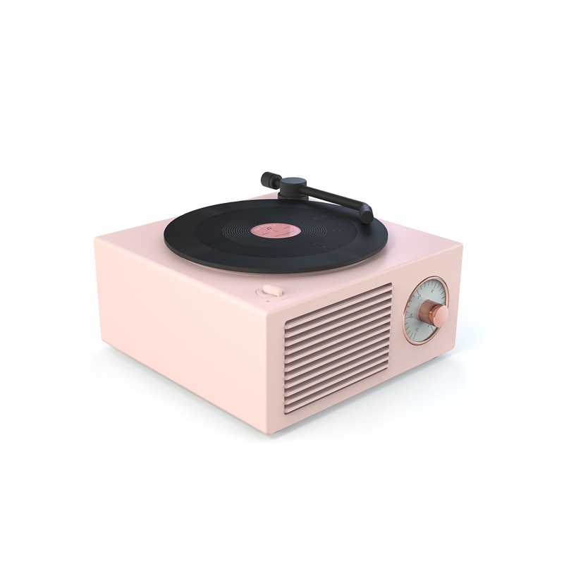 Music Box Type Built-in Bluetooth Stereo Wireless Vintage Retro Microphone Speaker  Support Portable Record Player Shape enlarge
