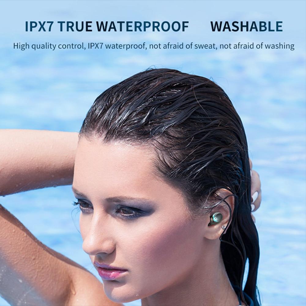 Wireless Earbuds bluetooth Headphones Deep Bass Stereo IPX7 Waterproof True Wireless Warphone With Charging Case
