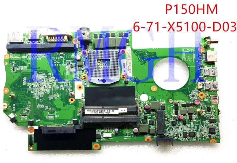 FOR Hasee FOR Raytheon FOR CLEVO P170HM Laptop Motherboard 6-71-x5100-d03 GPmotherboard DDR3 Non-integrated