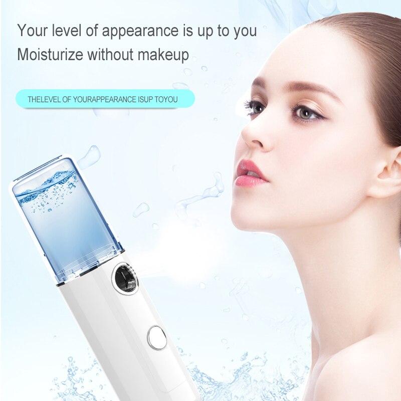 Nano Facial Sprayer USB Nebulizer Face Steamer Humidifier Hydrating Anti-aging Wrinkle Women Beauty