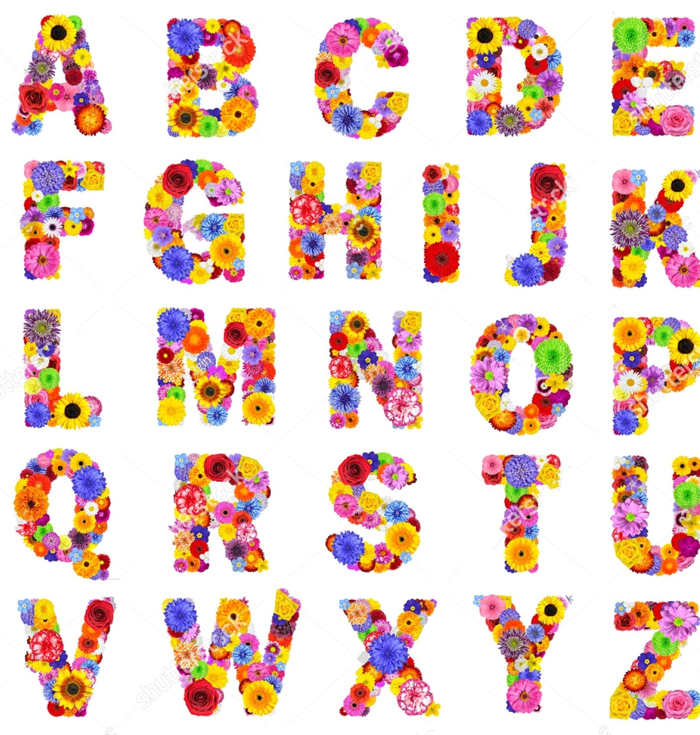 JMINE Div 5D letras C D E alfabeto de flores de colores pintura completa de diamantes kits de Arte de punto de cruz pintura 3D escénica por diamantes