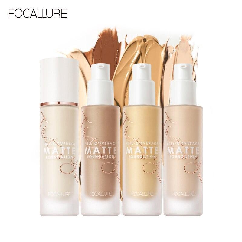 Focallure covermax cobertura completa base líquida fundação rosto creme 20 cores matte corretivo profissional maquiagem à prova dwaterproof água