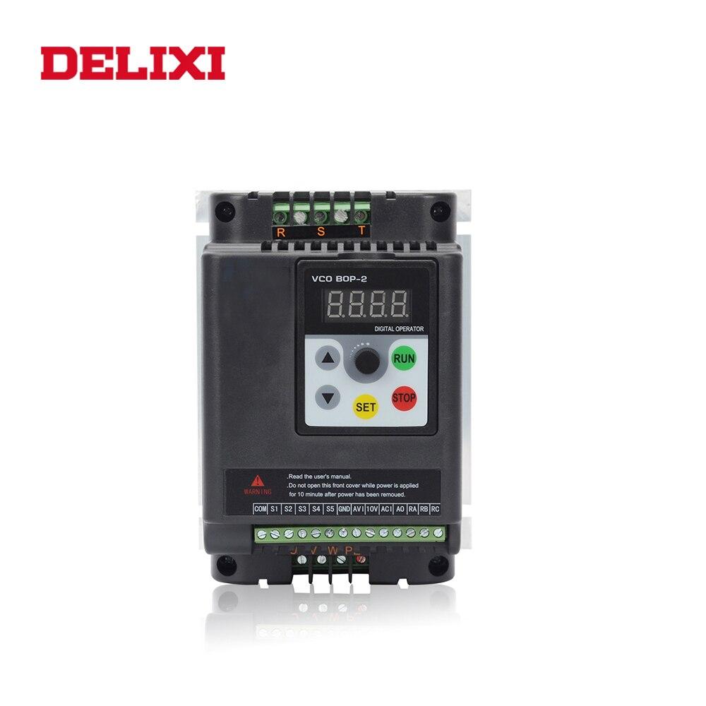 ديليكسي محول تردد 220 فولت المدخلات 380 فولت الناتج 11KW لمحرك السيارات 50 60 هرتز VFD