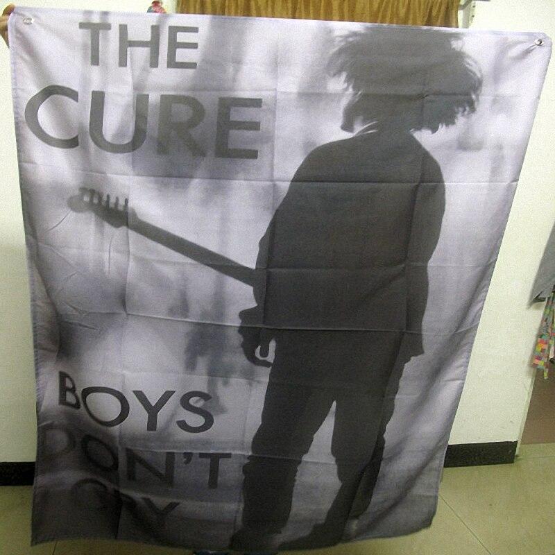 ملصقات مغني العلاج المعلقة ، ملصقات موسيقى الروك ، علم الروك ، لافتة قماشية مطبوعة ، زخرفة جدارية