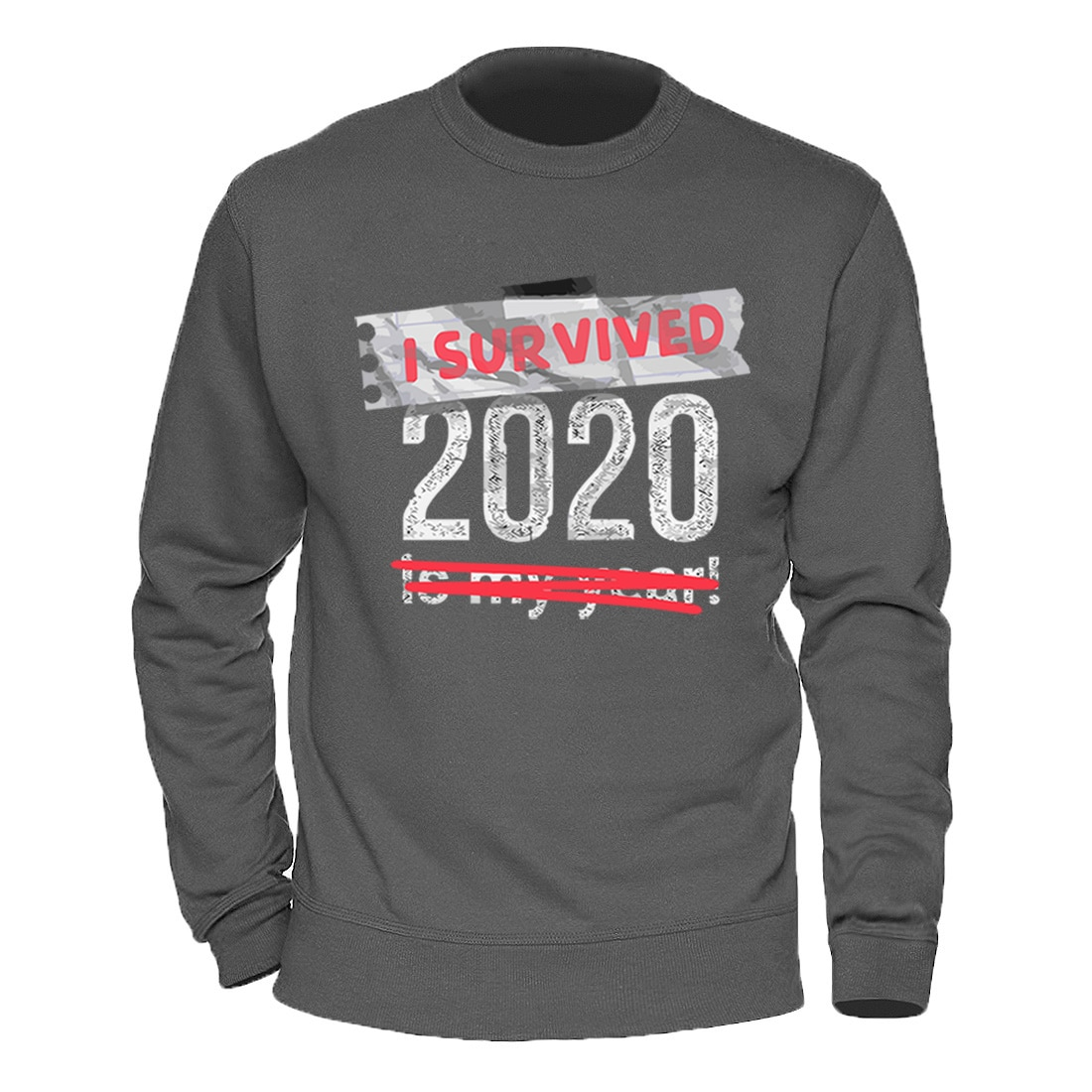 Eu sobrevivi 2020 impressão hoodie moletom moletom dos homens de alta qualidade inverno outono velo manga longa pulôver homme casual solto agasalho