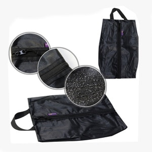 Black Shoes Storage Bag Polyester Travel Portable Bag Waterproof  Dust-proof  Pocket Classified Hanging Bag 1 Piece