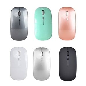 Wireless Bluetooth Dual Mode Rechargeable Mouse Silent Gaming Mouse, 2.4GHz Wireless Optical Computer Mouse