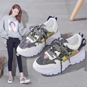 Harajuku Colorful WoMen's Sneakers 2020 New Fashion Breathable WoMen Chunky Shoes Trainers Street Style  Footwear Plus size36-42