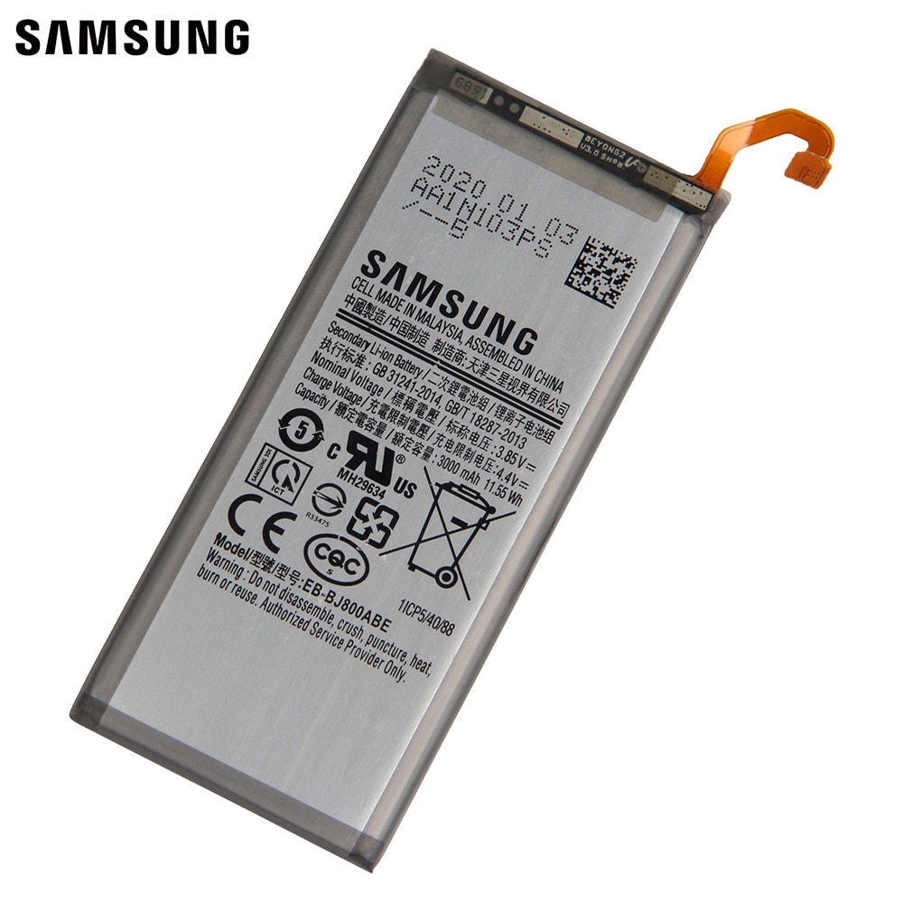 Samsung Original Replacement Battery EB-BJ800ABE For Samsung Galaxy J6 A6 On6 2018 version SM-A600F J600 3000 mAh enlarge
