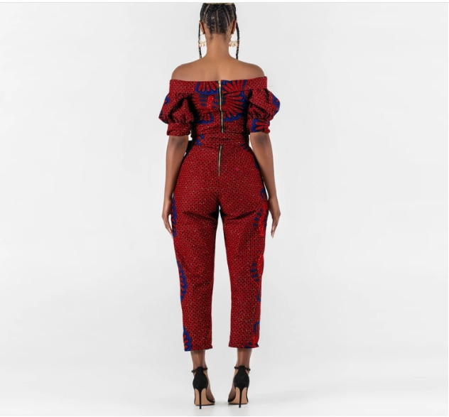 Ladies fashion Sexy off shoulder half sleeve cropped Party Jumpsuits 2021 new direct shipping  - buy with discount