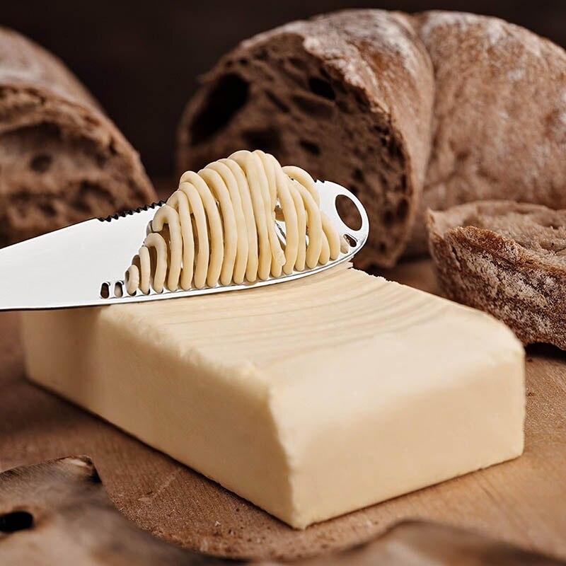 Multifunción de acero inoxidable para mantequilla, cuchilla para queso, esparcidores de mermelada, cuchillos de crema, cubiertos de utensilio, tostadas de postre, herramienta de desayuno