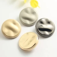 50 pcs high grade irregular surface metal hand wewn buttons mens and womens coats and trench buttons 18 30 mm