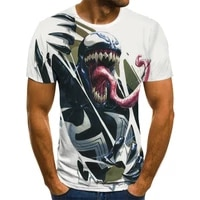 summer new t shirt funny movie venom 3d printing men and women fashion casual harajuku style round neck short sleeved t shirt cl