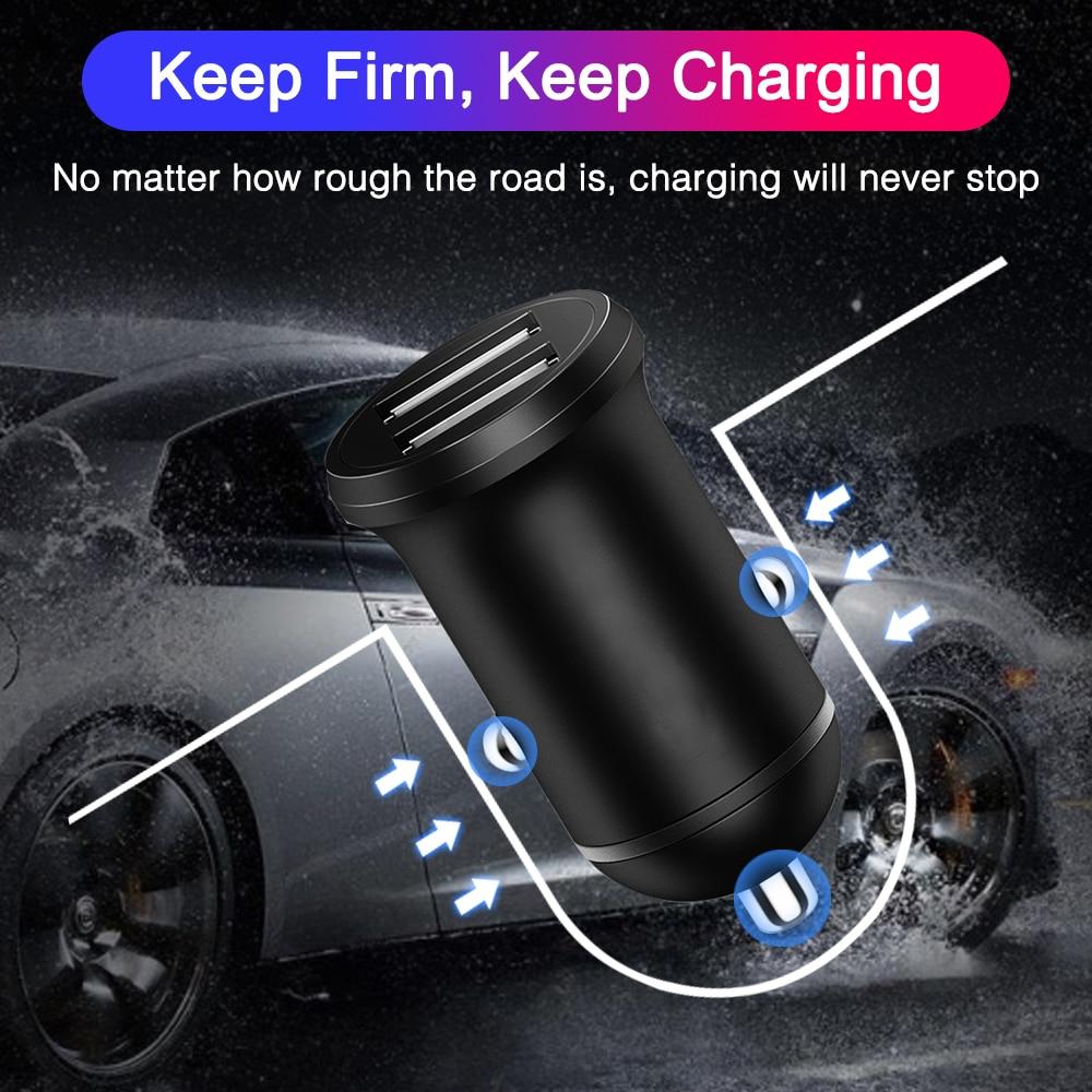 Универсальное Мини Автомобильное зарядное устройство с двумя usb-разъемами, 5 В, 2,4 А, высокое качество, светодиодный светильник, адаптер питания для автомобиля, грузовика, квадроцикла, лодки, 12-24 В