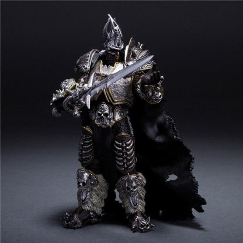 Новая ручная работа World-Of-Warcraft 7 дюймов мультяшный король Лих Эльзас коллекционные статуэтки игровые фигурки