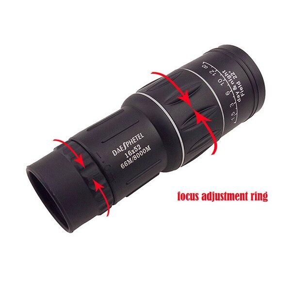 Telescopio Monocular a prueba de agua de alta definición Spotting Scope teléfono adaptador de fotografía para observación de aves Secenery EDF88