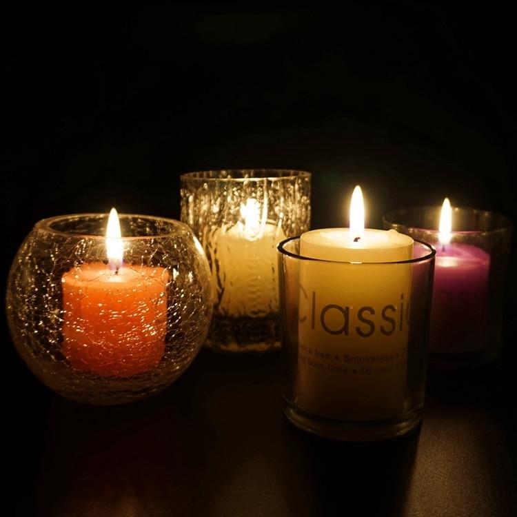 Portavelas de cristal para decoración del Hogar, portavelas nórdico de cristal para...