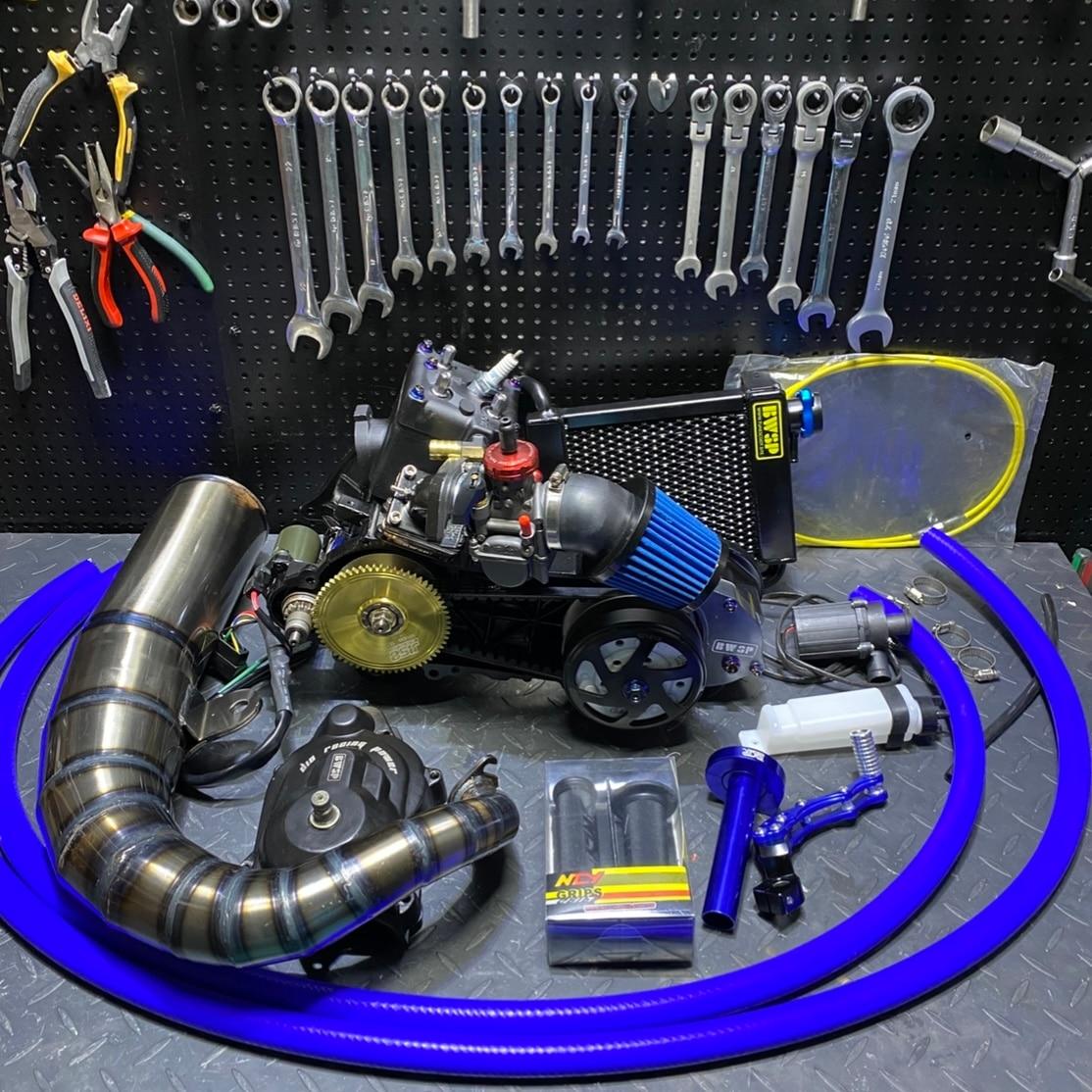 DIO50 AF18 125cc Engine By BWSP 54mm Cylinder Long Stroke Crankshaft 52.6mm Rotor 92mm Variator JISO Clutch Exhaust Radiator