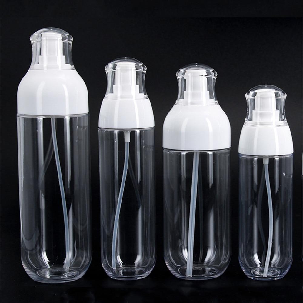 30-200 мл Портативный спрей бутылка прозрачная ПЭТ-бутылка для лосьона маленькие круглые бутылки духов Sub-бутылка многоразового использовани... недорого