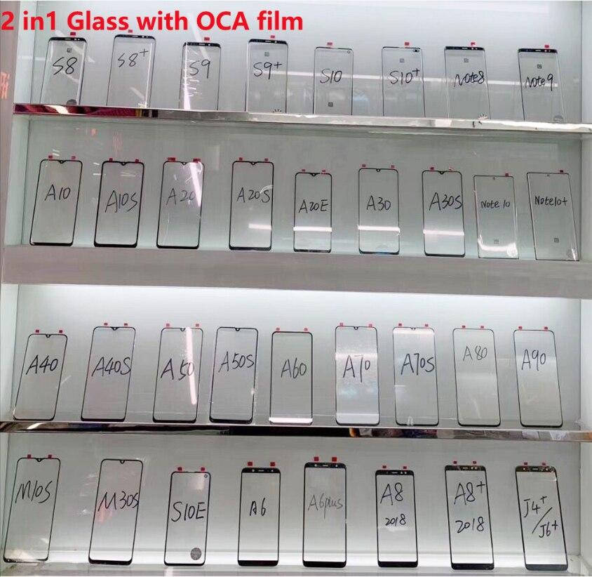 Front Glass For xiaomi mi8 mi8lite mi8pro mi9 mi9se redmi 8 redmi 8a redmi note8pro Touch Screen Outer Glass Panel  - buy with discount