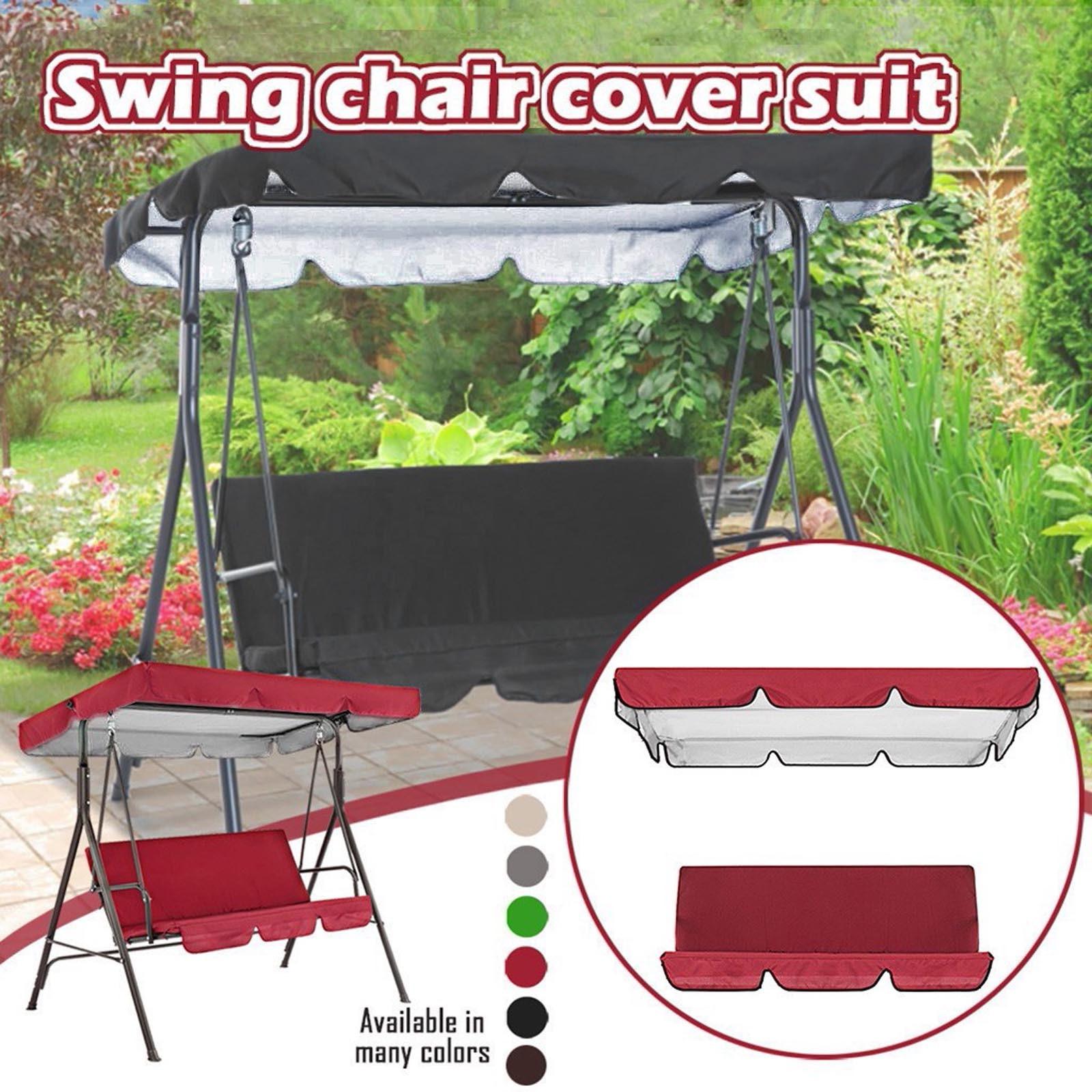 Cubierta impermeable para columpio, Toldo Plegable para silla De jardín, Toldo protector solar para exteriores, Toldo retráctil
