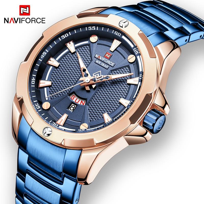 NAVIFORCE moda militar reloj de pulsera de cuarzo de lujo para hombre, reloj deportivo informal a prueba de agua, relojes masculinos, reloj Masculino 2019
